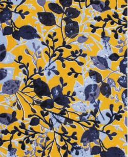 SLIM5023-4 Yellow & blue shirt ROMANCE prints slim fit