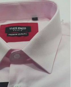 ENZO-203-2 Comfort fit pink OXFORD ROYAL shirt in cotton