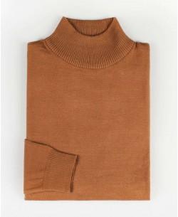 YE-6735-56 Orange jumper with funnel neck