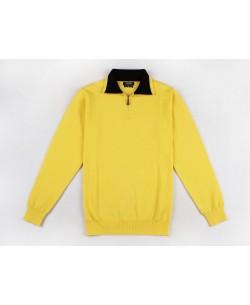YE-6738-61 High zip neck yellow jumper