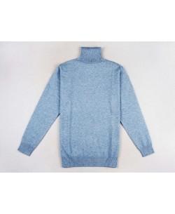 YE-6741-51 Sky blue turtle neck jumpers