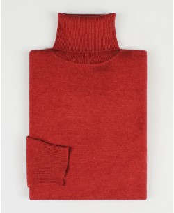 YE-6741-55 Denim red turtle neck jumpers