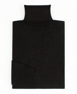YE-6741-69 Black denim turtle neck jumpers