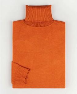 YE-6741-73 Orange turtle neck jumpers