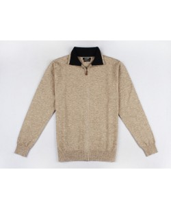 YE-6742-50 Beige knitted zip