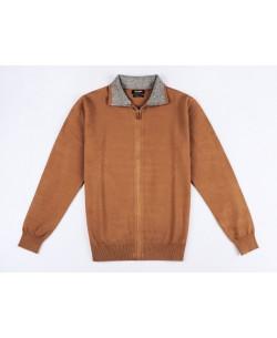 YE-6742-56 Camel knitted zip