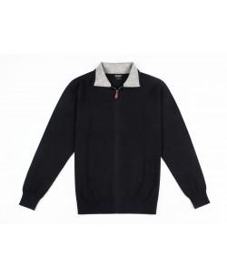YE-6742-67 Black knitted zip