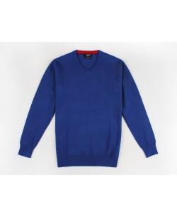 YE-6745-53 V-neck royal blue jumper