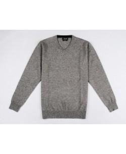 YE-6745-58 V-neck grey vintage jumper