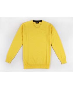 YE-6745-61 V-neck yellow blue jumper
