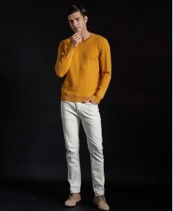 YE-6745-66 V-neck mustard jumper