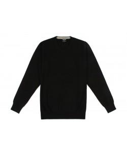 YE-6745-67 V-neck black jumper