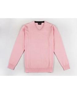 YE-6745-70 V-neck pink jumper
