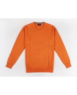 YE-6745-73 V-neck orange jumper