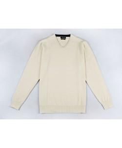 YE-6745-74 V-neck ivory jumper