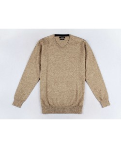 "GT45-50 ""V"" neck beige 2XL to 5XL jumper"
