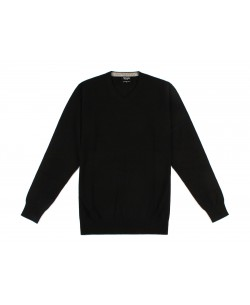 "GT45-68 ""V"" neck black 2XL to 5XL jumper"