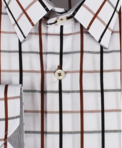 YE-7002-3 Checks shirt big size 2XL to 6XL