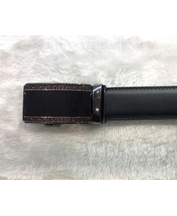 CE-9207 Black belt in leather with a presentation box