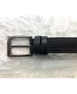 CE-9208 Black belt in leather with a presentation box