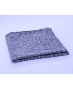 PS-302 Pocket square grey in wool