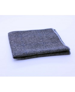 PS-303 Pocket square grey in wool