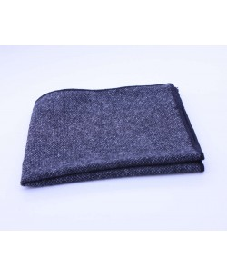 PS-304 Pocket square grey in wool