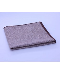 PS-305 Pocket square beige in wool