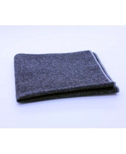 PS-308 Pocket square grey in wool