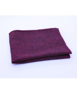 PS-310 Pocket square burgundy in wool