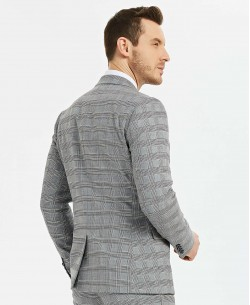 COS-204 Grey checks suit ( T46 to T58 )