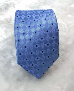 CRHQ-39 Blue slim tie SYNO prints