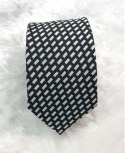 CRHQ-45 Blanc/white slim tie SYNO prints