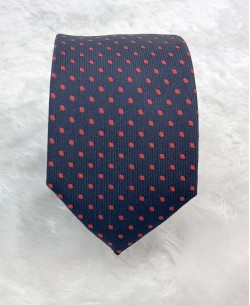 CRHQ-50 Dark blue/red slim tie CHIC prints