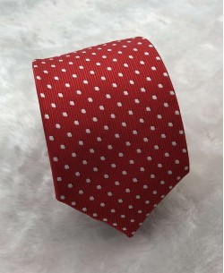 CRHQ-52 Red slim tie CHIC prints