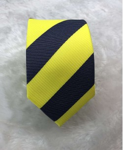 CRHQ-59 Yellow slim big stripes tie