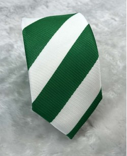 CRHQ-61 Green slim big stripes tie