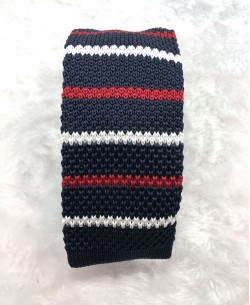 CR-07A Dark blue knitted tie