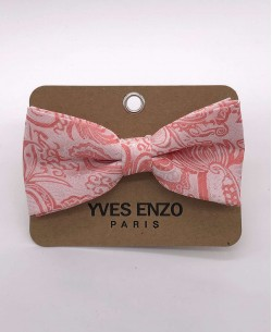 NP-435 Pink bow tie PAISLEY prints