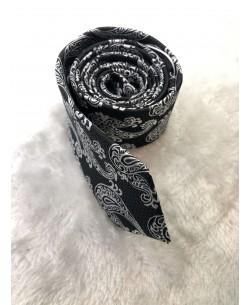 CRHQ-91 Black tie PAISLEY prints