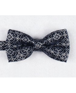 NP-475 Navy blue bow tie LILY prints