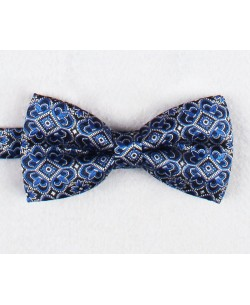 NP-476 Royal blue bow tie LILY prints