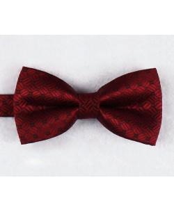 NP-486 Burgundy bow tie PLAZA prints