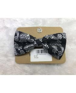 NP-491 Black bow tie PAISLEY prints
