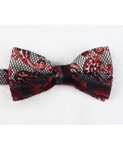 NP-493 Grey bow tie PAISLEY prints