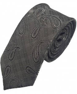 CR-32 Black paisley printed tie