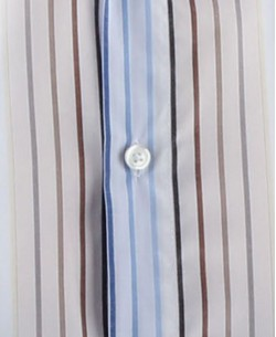 SLIM5154-1 Blue and brown stripes shirt slim fit