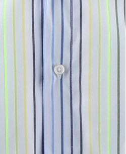 SLIM5154-5 Blue and green striped shirt slim fit