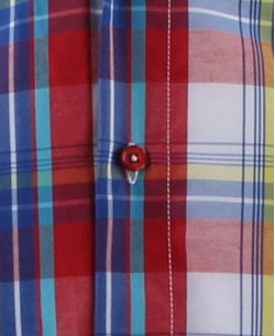 SLIM5160-1 Red checks shirt slim fit