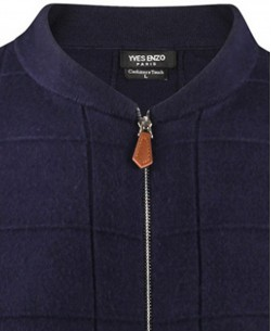 YE-6737-13 Baseball collar navy blue jumper